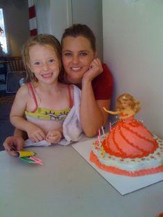 Lyric, my great niece with her mom, Shawna Darlington. Made for her 6th Birthday.