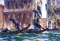 """On the Canal"" (1903) John Singer Sargent"