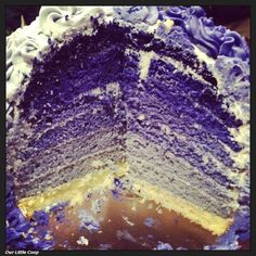 Our Little Coop: Purple Ombre Cake With Buttercream Frosting