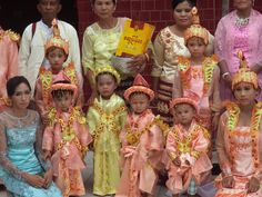 """Burmese Celebration where the children are dressed as the """"holy spirits"""" of the universe"""
