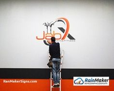 Custom Logo Wall Graphic for New Fitness Business - Bellevue WA Wall Logo, Custom Logos, Wall Murals, Signage, Decal, Branding, Business, Interior, Fitness
