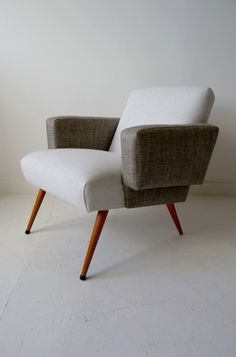 1950s French #midcentury two-tone armchair #chair