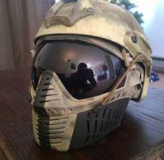 customized fast helmet    Rap4-custom-hawkeye-goggles-mask-pj-fast-helmet-A-Tacs-FG-paintball ...