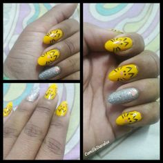 Nails Tiger  #nails #tigers by  camilledavalos👉instagram @camil_ale👉Twitter 💅💅
