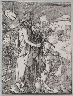 Jésus apparaissant à Madeleine - B47 - Albrecht Dürer - Figurae Passionis Domini Nostri Iesu Christi - Petite Passion