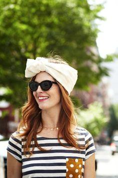 Stripe Shirt + Polka Dot Pocket