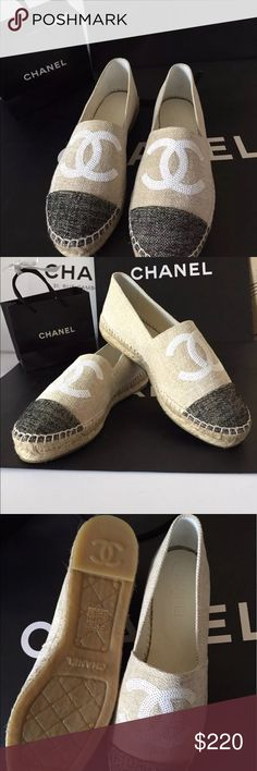 Chanel woven espadrilles 2-DAY 65% OFF SUMMER SALE!!! 100% Authentic. We have a few sizes available. Text Brittany at (978) 224-8266 to purchase right now. Shoes Sneakers