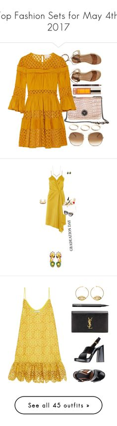 """Top Fashion Sets for May 4th, 2017"" by polyvore ❤ liked on Polyvore featuring Hollister Co., Cinq à Sept, Shiffa, Chloé, GUESS, orange, brown, Victoria Beckham, Dolce&Gabbana and Tiffany & Co."