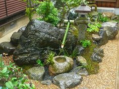 Modern Japanese Garden, Japanese Gardens, The Pleasure Garden, Buddha Garden, Pagoda Garden, Zen Garden Design, Japan Garden, Indoor Water Fountains, Parcs