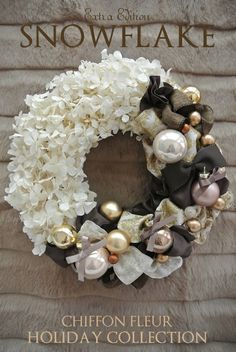 Extra Edition♡クリスマスリース♫ - Another! Wreath Crafts, Diy Wreath, Christmas Crafts, Christmas Ornaments, Diy Crafts, Christmas Design, Winter Christmas, Christmas Time, Holiday