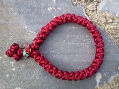 Orthodox russian greek RED Satin chotki komboskini prayer rope 33knot bracelet