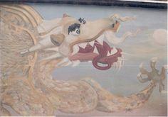 Decoração Criativa para a a fachada de um restaurante chinês em Santo Andre - São Paulo. Pintura Artistica em Parede - Trompe Lóeil - Dragão Imperador - Por Sueli Pessoa - Plick Ateliê