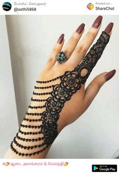 What is a Henna Tattoo? Henna tattoos are becoming very popular, but what precisely are they? Henna Hand Designs, Eid Mehndi Designs, All Mehndi Design, Mehndi Designs Finger, Simple Arabic Mehndi Designs, Mehndi Designs For Girls, Modern Mehndi Designs, Mehndi Designs For Fingers, Mehndi Design Pictures