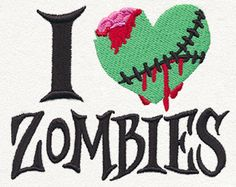 I Heart Zombies | Urban Threads: Unique and Awesome Embroidery Designs
