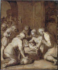 Vijf Grisailles | Ons' Lieve Heer op Solder; Rembrandt