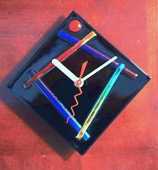 Handmade Wall Clock | Handmade Contemporary Fused Glass Wall Clock $55.00 Buy It Now Free ...