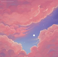 "brittnie on Twitter: ""I occasionally paint clouds… "" Aesthetic Painting, Aesthetic Art, Aesthetic Anime, Arte 8 Bits, Cloud Art, Sky Art, Scenery Wallpaper, Anime Scenery, Gouache"
