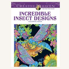 Adult Coloring Book  Incredible Insect by MulberryPaperAndMore