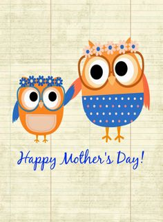 Mother's Day Owl Free Printable Pinned by www.myowlbarn.com