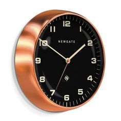 Newgate Clocks Chrysler Wall Clock - Radial Copper Black