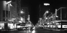 Nighttime scene on Franklin Street, - Robertson & Fresh / University of South Florida Digital Collections L to R: J. Vintage Florida, Old Florida, Tampa Florida, Tampa Theatre, Theater, University Of South Florida, Tampa Bay Area, Great Depression, Night Time