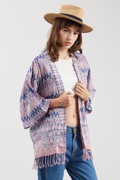 Fringe Kimono Murasaki