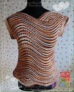 Crochet top pattern free website ideas for 2019 T-shirt Au Crochet, Pull Crochet, Gilet Crochet, Crochet Shirt, Freeform Crochet, Crochet Woman, Irish Crochet, Free Crochet, Crochet Tops
