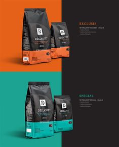 coffee branding Showcase of Creative Packaging Designs for Coffee Brands