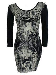 Iron Fist OMG! Ladies Black Dress