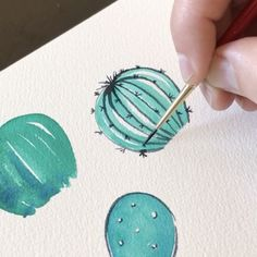Thank you all for loving these cactus doodles.🌵 Here is one more I had captured during my watercoloring. Cactus Doodle, Cactus Art, Cactus Plants, Painting & Drawing, Watercolor Paintings, Watercolors, Cactus Drawing, Easy Watercolor, Watercolor Cactus