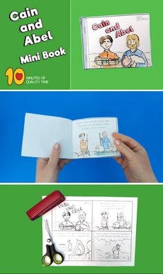 Cain and Abel Mini Book Free Sunday School Lessons, Kids Church Lessons, Sunday School Crafts For Kids, Sunday School Classroom, Bible Lessons For Kids, Bible For Kids, Primary Lessons, Bible Activities For Kids, Preschool Bible