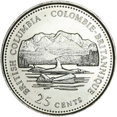 Canadian Coin Collection: British Columbia 1992 - Anniversary of Confederation Canadian Penny, Canadian Things, Canadian Art, Canadian National Railway, Canadian Pacific Railway, Mint Coins, Silver Coins, Coins Worth Money, Coin Worth