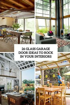 glass garage door ideas to rock in your interiors cover ideen Garage Door Windows, Glass Garage Door, Glass Door, Window Bars, Outdoor Rooms, Outdoor Decor, Indoor Outdoor, Shed Doors, Pergola Attached To House