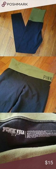 PINK Yoga leggings No rips or stains PINK Victoria's Secret Pants Leggings