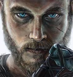 Fantasy, science fiction and portrait art and illustration by the Jamie Noble, Ragnar Lothbrook, Paper Flower Wall, Fantasy Male, Portrait Art, Science Fiction, Illustrators, Digital Art, Illustration Art