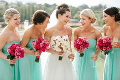 Bridal party bouquets - Courtesy of The Lone Hydrangea