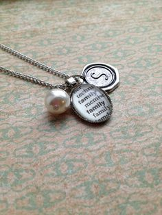 I so want one of these!!!! Dictionary Word and Wax Seal Initial Necklace by outoftheblue, $25.00