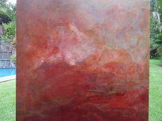 La Creacion  tecnica mixta sobre lienzo  100 x 100 cms