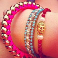 diy bracelets - love the colours