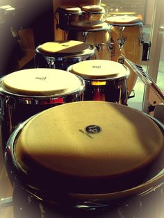 Congas in the morning.   #sunlight  #drums #music