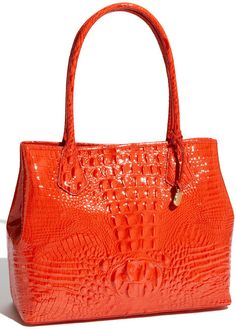 Orange Brahmin Tote