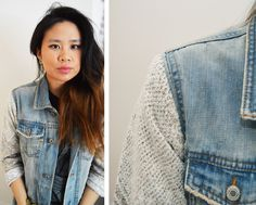 diy: Sweater Sleeved Denim Jacket