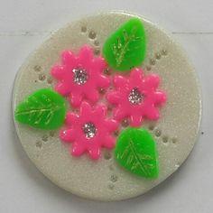 Polymer Clay Pink Blossom Fridge Magnet