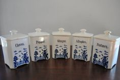 Delft Windmills  Small Blue & White Porcelain by PrettiiPractical, $35.00