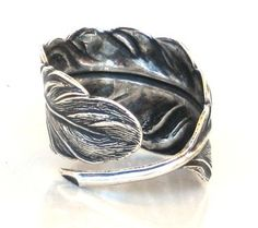 Steampunk FALLEN ANGEL FEATHER Ring  Antique by GlazedBlackCherry, $25.99