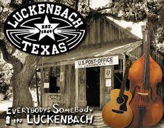 "Stopped at Luckenbach (a few miles from Fredericksburg, Tx)...looked for ""Waylon, Willie, and the boys""...seriously, one night a week local performers sit around a patio campfire to pick and sing."