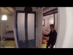 House of moving doors in Barcelona adapts to family use - YouTube