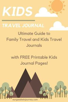 Travel Journal Ideas for KIDS! With Printable Pages New Travel, Travel Alone, Travel With Kids, Family Travel, Travel Tips, Travel Ideas, Family Vacations, Travel Hacks, Travel Destinations