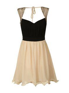 Black and cream prom dress - DP