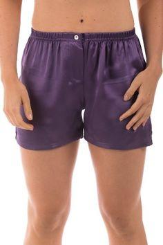 Women`s Silk Boxer Shorts Underwear Sleepwear (La Dolce Vita); A Beautiful Romantic Gift of Comfort and Luxury... $23.99